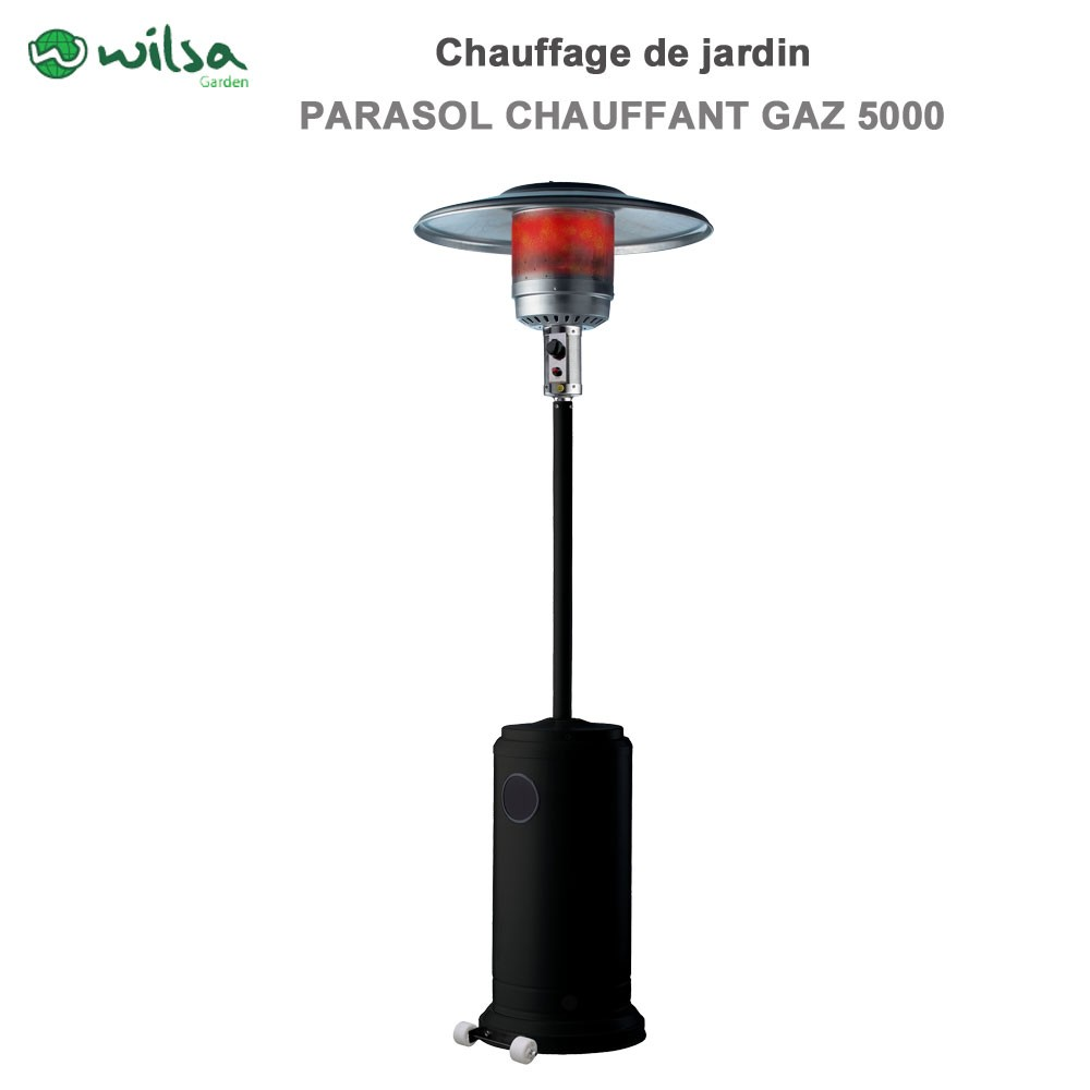 parasol chauffant inclinable